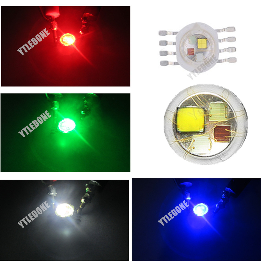 Image 3 - 50pcs/lot 12W RGBW  high power led Chip 8 Pins for Stage Lighting-in Light Beads from Lights & Lighting