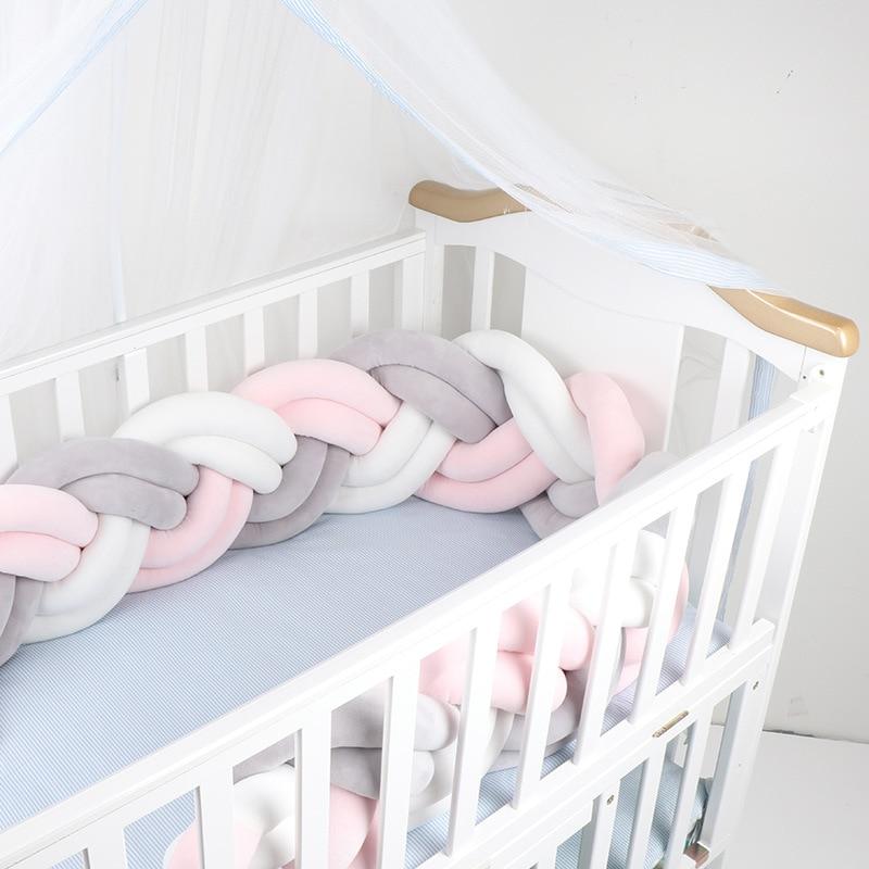 2M Baby Bed Bumper 6 Braid Knot Bumper Crib Bumper Protector Newborn Infant Pillow Cushion Tour De Lit Bebe Tresse