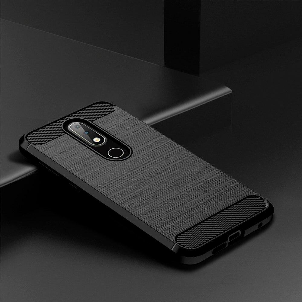 Geborsteld Case Voor Nokia 2.4 3.4 3.2 5.3 6.1 7.1 8.1 2.1 3.1 4.2 5.1 Plus 8.3 2.3 5 6.2 7.2 7 8 4.2 8.3 Cover Carbon Telefoon Case