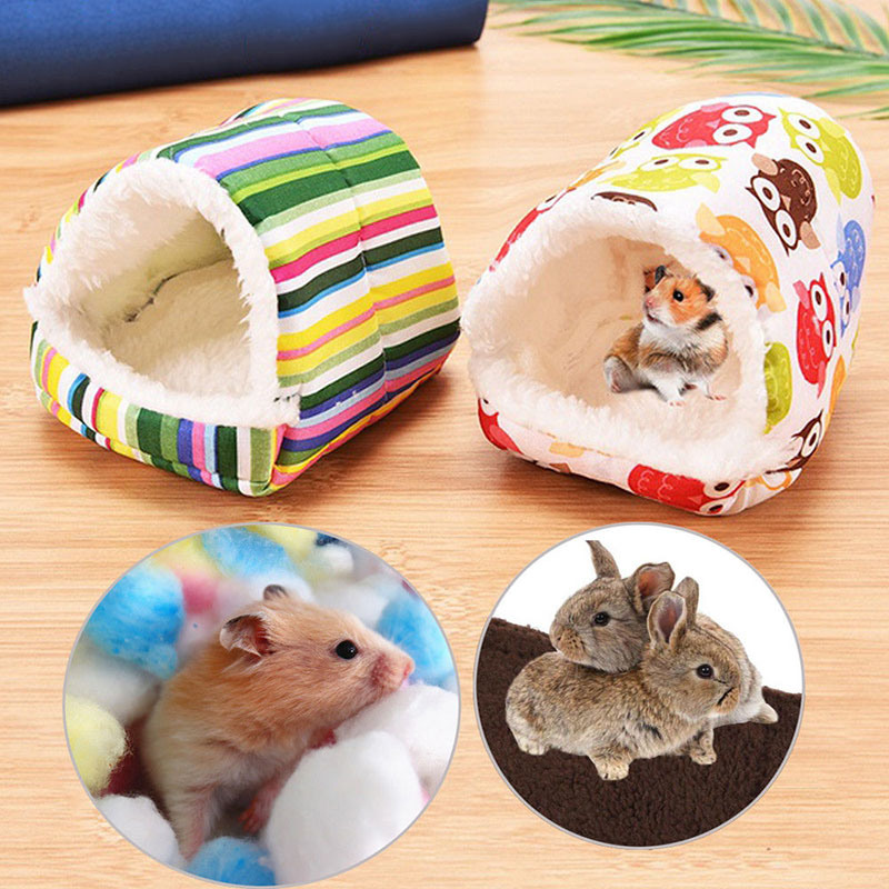 Warm Soft Comfortable Pet Nest House For Hamster Rodents Small Animals Sleeper Animal Cave Nest Pet House Products