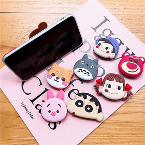 Image 5 - Phone Holder Stand Universal Handy Holder Epoxy Bracket Lazy Finger Stand Holder 3D Cartoon Animal Pig New Year Gift Mount