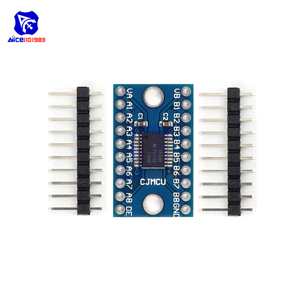Diymore TXS0108E 8 Channel Logic Level Converter Bi-Directional High Speed Full Duplex Shifter 3.3V 5V For Arduino Raspberry Pi