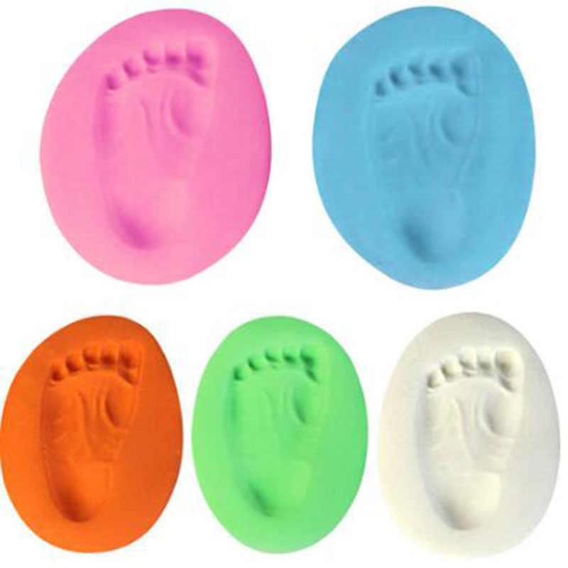 Plasticine Soft Clay มือเด็กพิมพ์รอยเท้าพิมพ์ Air Drying Kit Casting Parent ลายนิ้วมือมือเด็ก DIY ของขวัญ