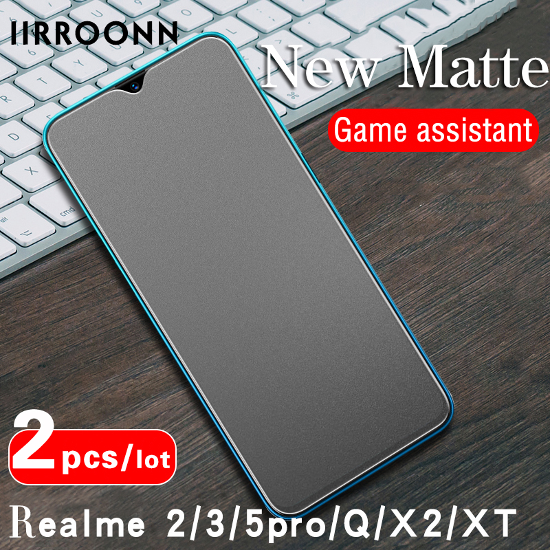 2Pcs/lot Matte Tempered Glass For Realme X2 XT Q Screen Protector For Realme  2 Pro Realme 5pro Glass For Realme 3pro (4 Styles)