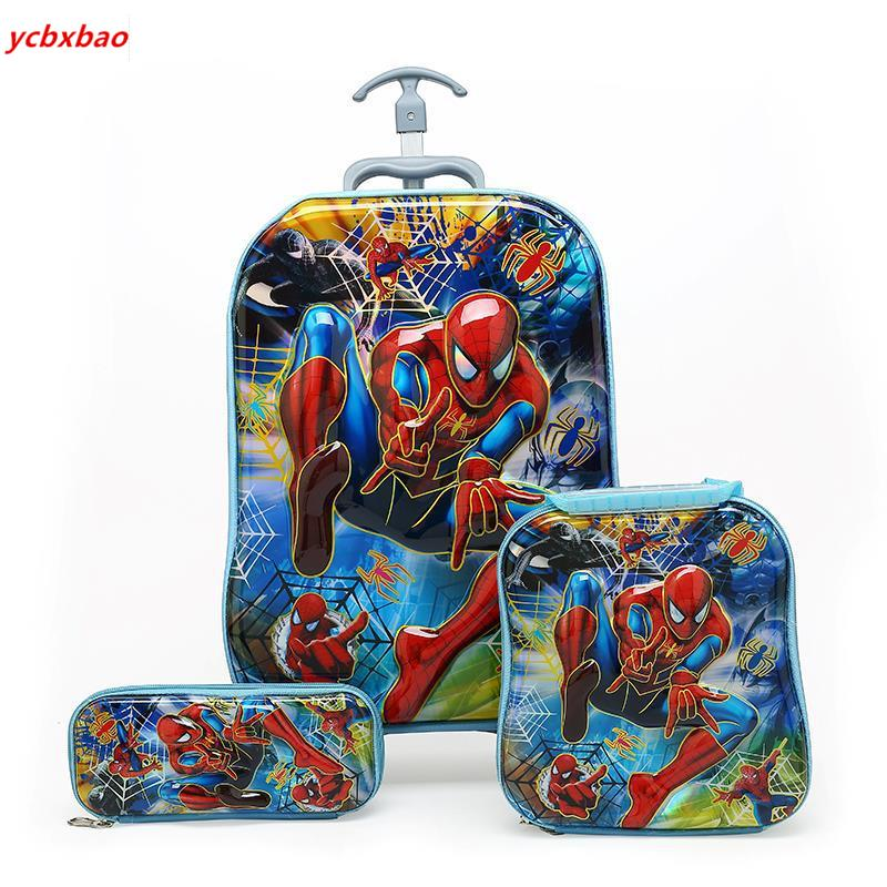 Children Backpack Children's School Bag Trolley Kids Luggage Boys Girls School Backpack Gift Backpacks Bag With Wheels