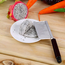 Crinkle Cut Knife Potato Chip Cutter With Wavy Blade French Fry Kitchen