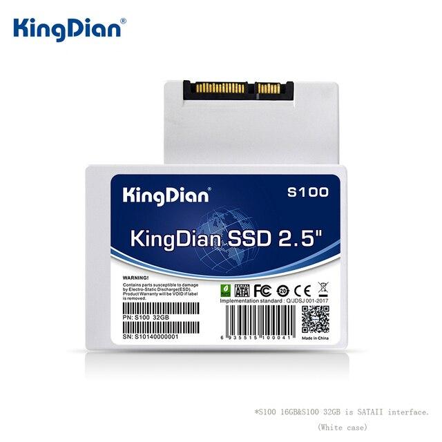 KingDian HDD 2,5 SSD 120GB 240GB 480GB 1TB SSD SATA3 de disco de estado sólido Disco Duro SSD 60GB 32GB 16GB SATA para computadora portátil de escritorio