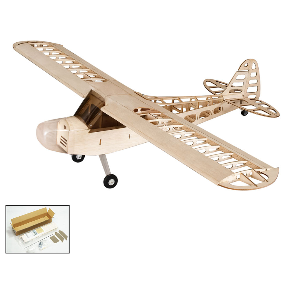 Dancing Wings Hobby S0801 Balsa Wood RC Airplane 1.2M Piper Cub J-3 Remote Control Aircraft KIT Version DIY Flying Model