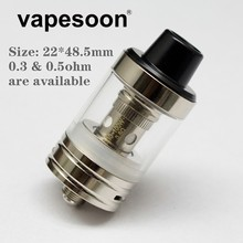 Original vapesoon EC-1 RTA Rebuildable Tank 22mm with EC Coil 0.3ohm 0.5ohm as iJust 2 S Melo 3 mini Atomizer Core Head Coil