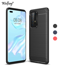 For Huawei P40 Pro Case Carbon Fiber Case For Huawei P40 Pro Soft Silicone Cover Protective Phone Case Bumper For Huawei P40 Pro for cover huawei p40 case huawei p40 coque protective stylish smooth skin pc matte ultra thin phone case for huawei p40 cover
