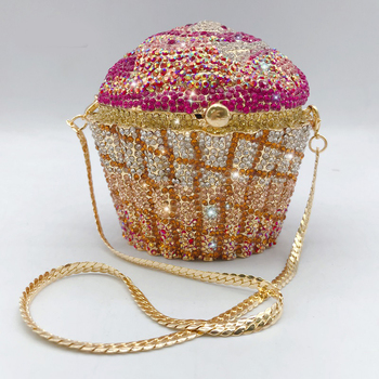 bag for women 2020 new Crystal diamond painting chain cake Clutch Wedding Dinner Evening Bags Purses and Handbags designer bags