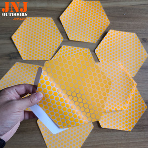Image 3 - waxless hexagon style surfboard transparent deck traction pad 20pcs a box