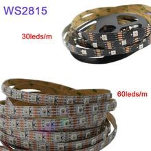 5m/lot WS2815 pixel led strip light;DC12V 30/60 pixels/leds/m;IP30/IP65/IP67;Addressable Dual-signal Smart led strip tape