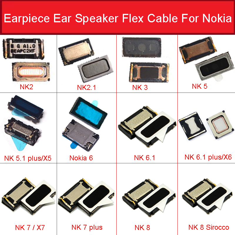 New Earpiece Speaker Ear Speaker For Nokia 2 2.1 3 3.1 5 5.1 6 6.1 7 7.1 8 Plus Sirocco X7 Speaker Receiver Replacement Parts