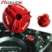M20 * 1,5 de la motocicleta del motor del CNC de aceite tapón de relleno de alta calidad para BENELLI TRK 502 Leoncino 500 200 BJ250 BJ500 TNT 125 de 300 de 600 502c