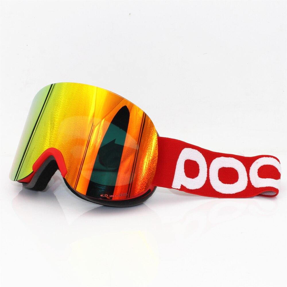 Originele Deksel skibril Dubbele lagen anti-fog lens grote ski masker bril skiën mannen vrouwen sneeuw snowboard Duidelijkheid retina