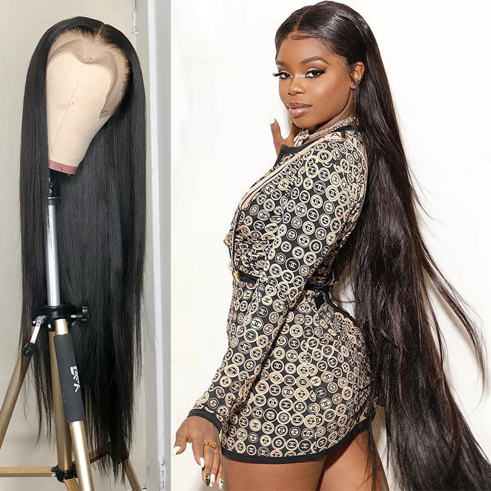 Lace Front Human Hair Wigs Straight Lace Front Wig 13x4 Straight Hd Frontal Brazilian 28 30 Inch Full Lace Front Human Hair Wigs