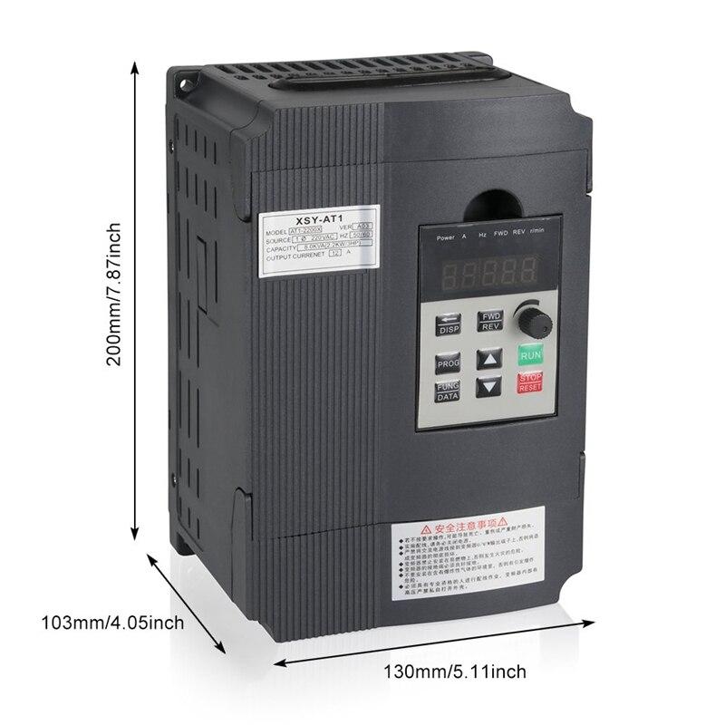 Napęd o zmiennej częstotliwości, przetwornik częstotliwości Vfd 2.2Kw 3Hp 220V 12A dla silnika wrzeciona kontrola prędkości (Vfd-2.2Kw)