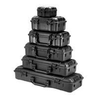 Kit di attrezzi per borsa rigida impermeabile da 6 dimensioni con scatola di immagazzinaggio in spugna cassetta degli attrezzi per Organizer di protezione di sicurezza