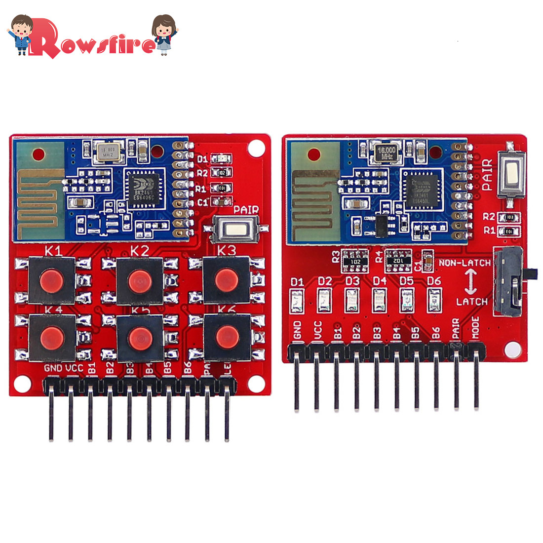 New Recommend 1 Pcs 2.4G Wireless Switch Remote Kit 6-Channel Transmitter Receiver Module Without Programming For DIY