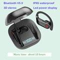 Handsfree wireless blutetooth V5.0 Q62 esportes Esportes fone de ouvido fones de ouvido com display de energia