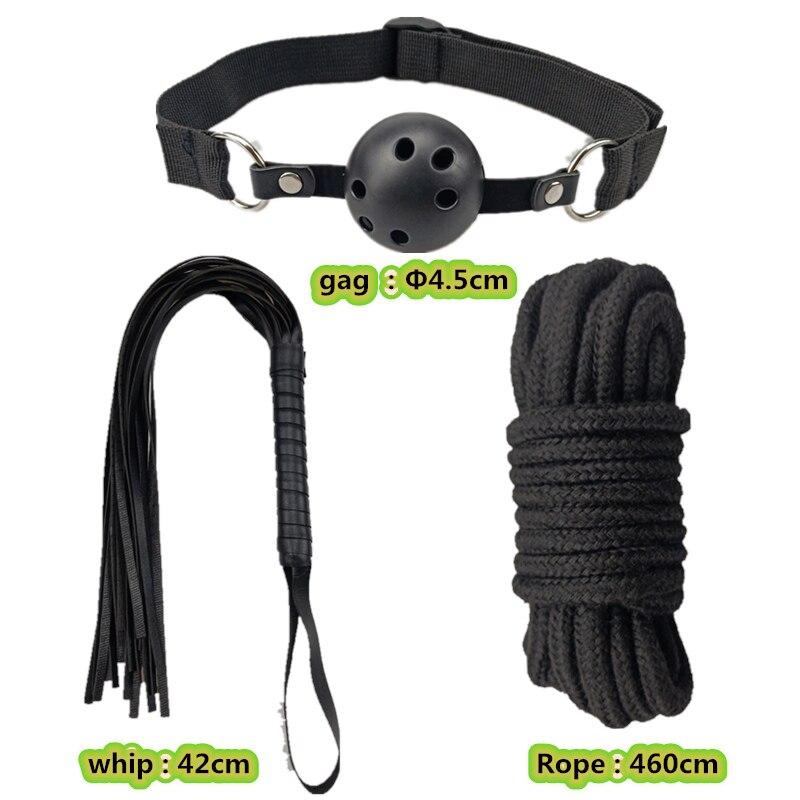 10 pcs Fetish Sex Toys for Women BDSM Sex Bondage Restraint Kit Games Erotic Exotic Accessories Collar Gag Handcuffs for Sex