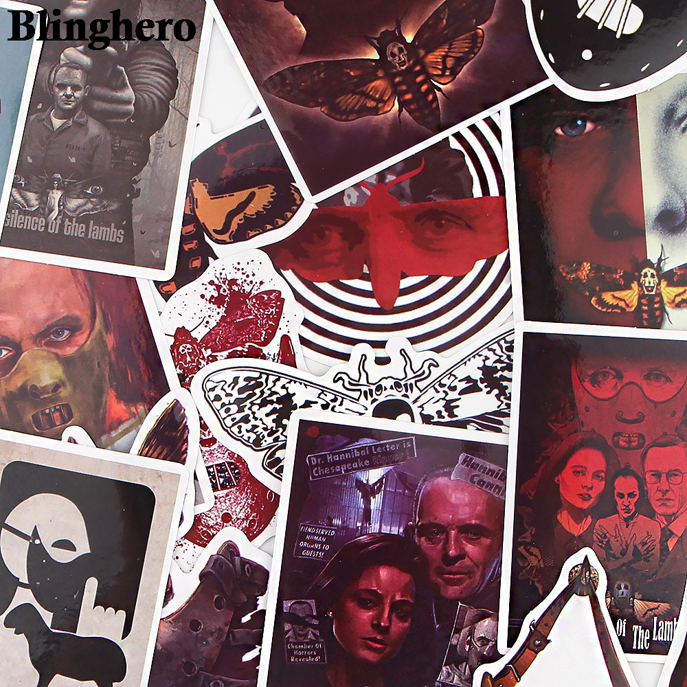 CA1529 15pcs/set Classic Horror Movie Stickers For Luggage Laptop Stickers waterproof skateboard toy