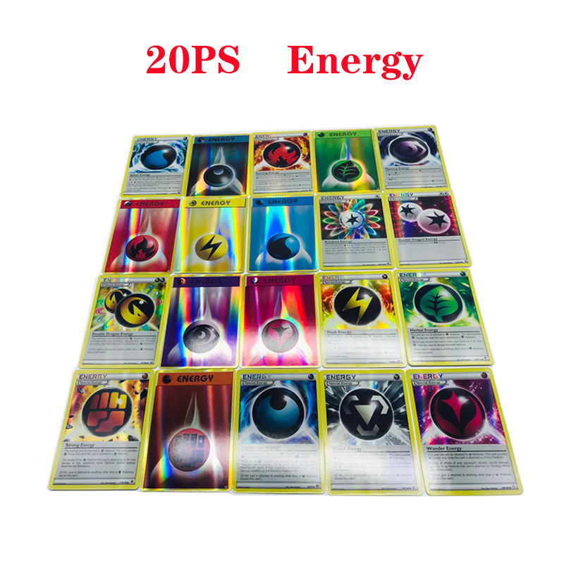 20Pcs  Energy  6.3*8.8CM Game Collection Cards