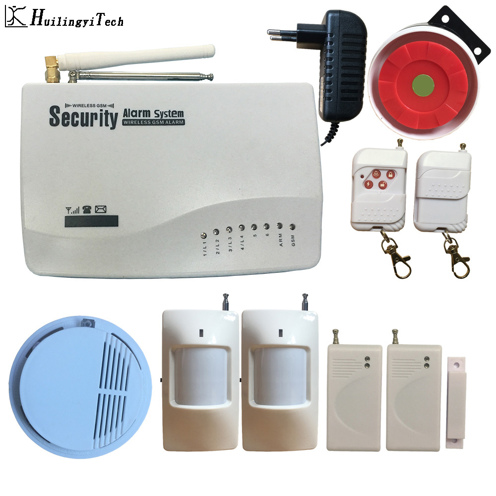 HuilingyiTech 433MHz Alarm Accessories GSM Alarm System Dual Antenna Home Alarm System Security Home Signal 900/1800/1900MHz