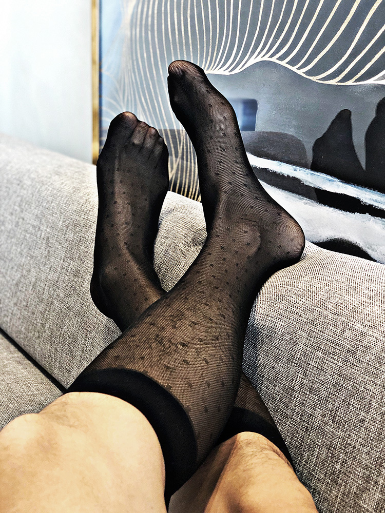 Tube Socks Men's TNT Stocks Business Dress Wear Sheer Socks Exotic Male Formal Wear Sheer Socks Suit Men Sexy Transparent Socks