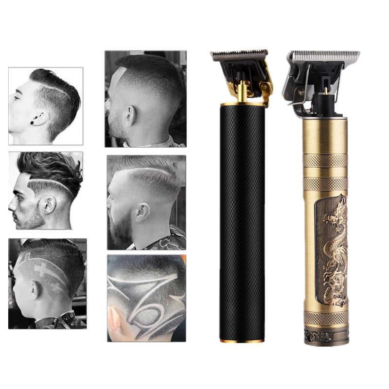 2020 wiederaufladbare haar clipper friseur haarschnitt cutter mäher schneiden maschine Rasiermesser trimmer clippers bart trimmer für männer