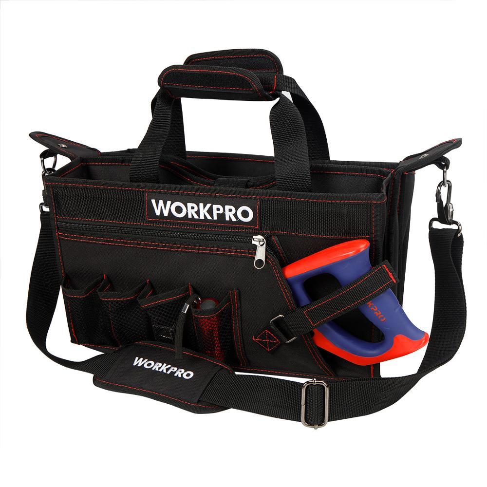 Сумка для инструментов WORKPRO W081070A Многофункциональная складная сумка на плечо сумка-Органайзер сумка для хранения