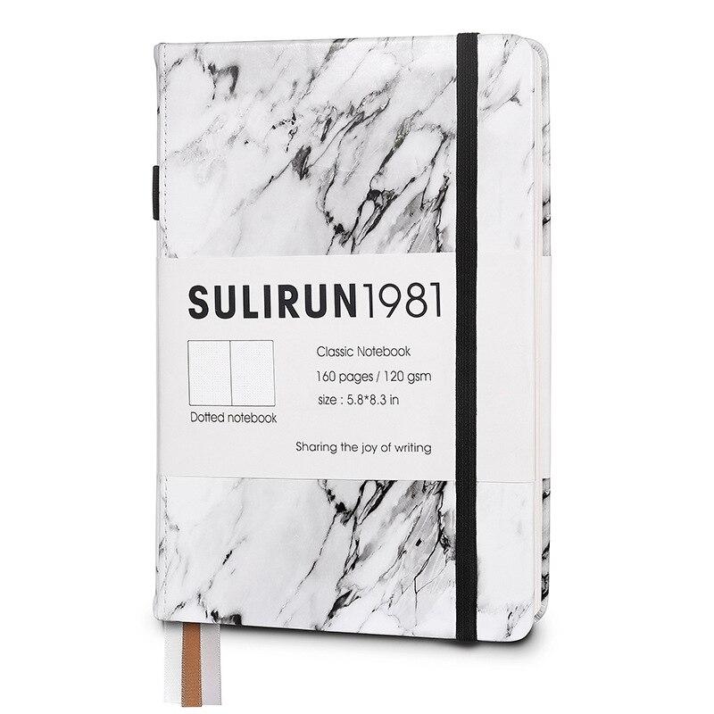 Креативный блокнот с мраморным дизайном Bullet Dotte, блокнот 2020, плотный 120gsm 80 листов, твердый переплет, защита от чернил, дневник в горошек|Записные книжки|   | АлиЭкспресс