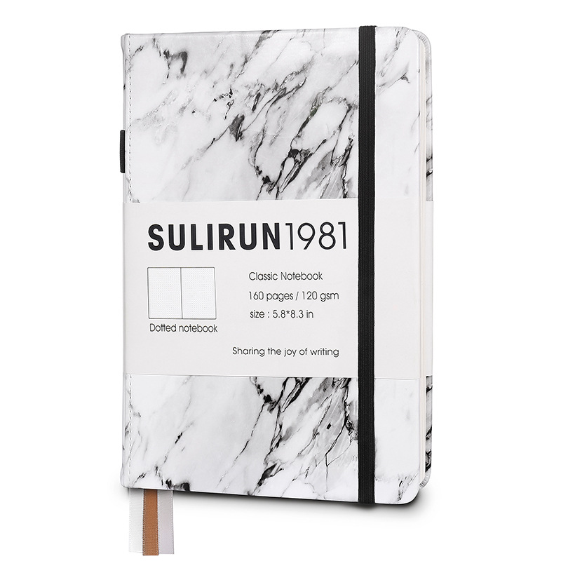 Creative Marble Design Bullet Journal Dotted Notebook 2020 Thicken 120gsm 80sheets Hardcover Ink Proof Dotted Diary Journal