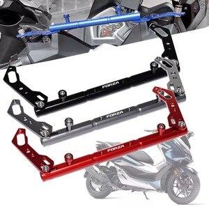 Motorcycle aluminum balance bar Mobile phone stand cross bar lever For HONDA Forza 125 200 300 2017 2018 2019 handlebar(China)
