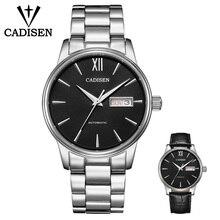 CADISEN mens watch military mechanical watch leisure sports business watch waterproof calendar week belt steel belt set