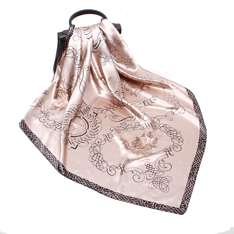 Artificial Silk Printing Silk Scarf Women Elegant Noble Retro Style Multipurpose Unisex Silk Female Scarf 2020 Spring Summer