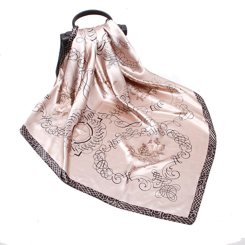 Artificial Silk Printing Silk Scarf Women Elegant Noble Retro Style Multipurpose Unisex Silk Female Scarf 2020 Spring Summer