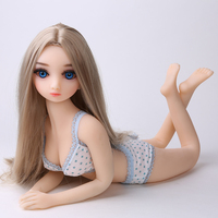 65cm Full Silicone Metal Skeleton Small Boobs A Cup Mini Sex Doll Little Size Japan 18 Young Anime Love Doll For Men