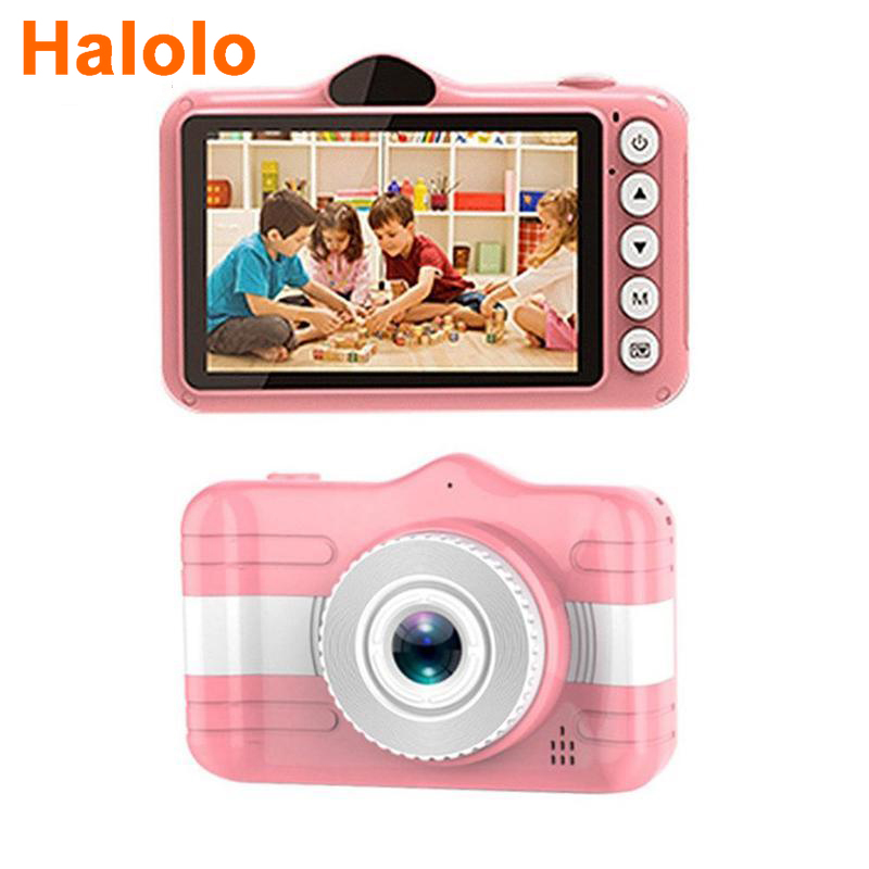 Halolo 3.5 Inch Digital Camera Mini Camera Kids Educational Toys for Children Baby Gifts 1080P Projection Video Camera