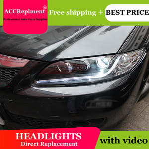 Image 2 - Cho Mazda6 2003 2014 Đèn Pha Tất Cả Các Đèn Pha LED DRL Năng Động Tín Hiệu Giấu Đầu Đèn Bi Xenon Tia Phụ Kiện Ô Tô tạo Kiểu Tóc