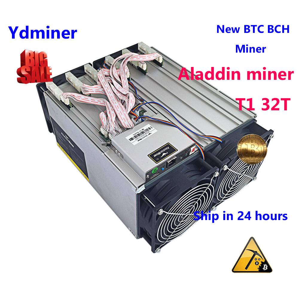 Nouveau BTC BCH SHA-256 mineur Aladdin mineur T1 avec 32T BP терахеш minière mieux que antminer S9 T9 + s9i s9j whatsminer M3X M21S M20S