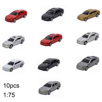 10/50pcs 1:75 1:87 Scale Simulation Plastic Mini Car Plastic Model Car for DIY Sand Table Building Model Suitable for HO/TT Sca image