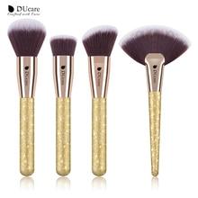 DUcare 4 sztuk zestaw pędzli do makijażu fundacja Powder Contour wyróżnienia szczotki zestaw narzędzi do makijażu