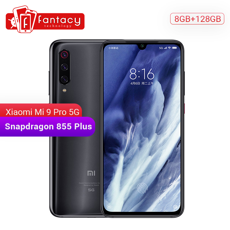 Original Xiaomi Mi 9 pro Mi9 Pro (5G) 8GB 128GB Smartphone Snapdragon 855 Plus 48MP Triple Cameras Mobile Phone 4000mAh MIUI 11
