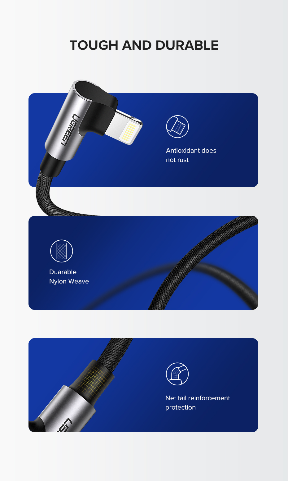 UGREEN MFi USB Lightning Cable for iPhone 11 Pro X Xs Max Fast Charge Data Cable for iPhone 8 7 6 6S Mobile Phone Charger Cable