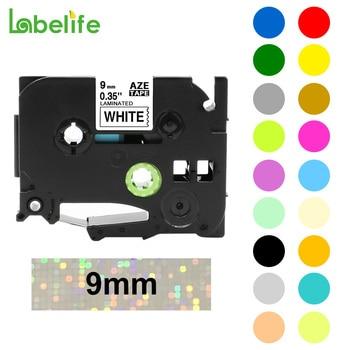 Labelife  1pcs 9mm TZ Tape TZe-221 TZe221 TZ221 TZe 221 Compatible With Brother P-Touch Label Maker Black on White