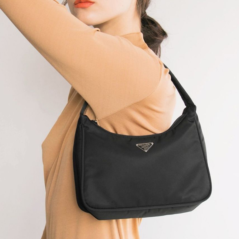 Retro Baguette Bag For Women Trendy Vintage Nylon Handbag Female Small Subaxillary Bags Casual Retro Mini Shoulder Bag Bella New