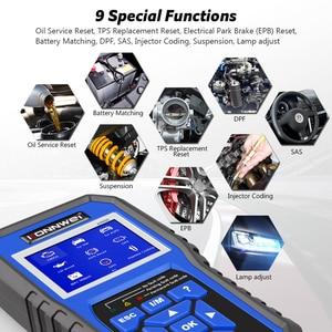 Image 3 - KONNWEI KW450 kod okuyucu tarayıcı VAG arabalar için tam sistem OBD2 teşhis aracı ABS hava yastığı yağ ABS EPB DPF SRS TPMS sıfırlama