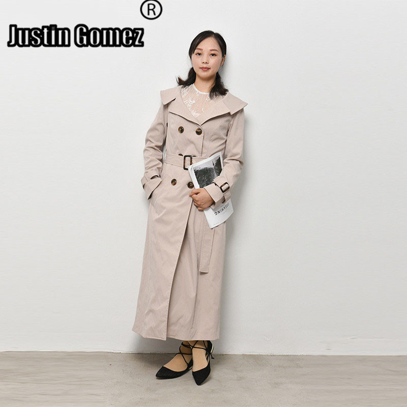 Office Ladies Daily Work Elegant Windbreaker Europe America Fashion Slim   Trench   Coat Corta Vento Feminina Women's Coat Autumn
